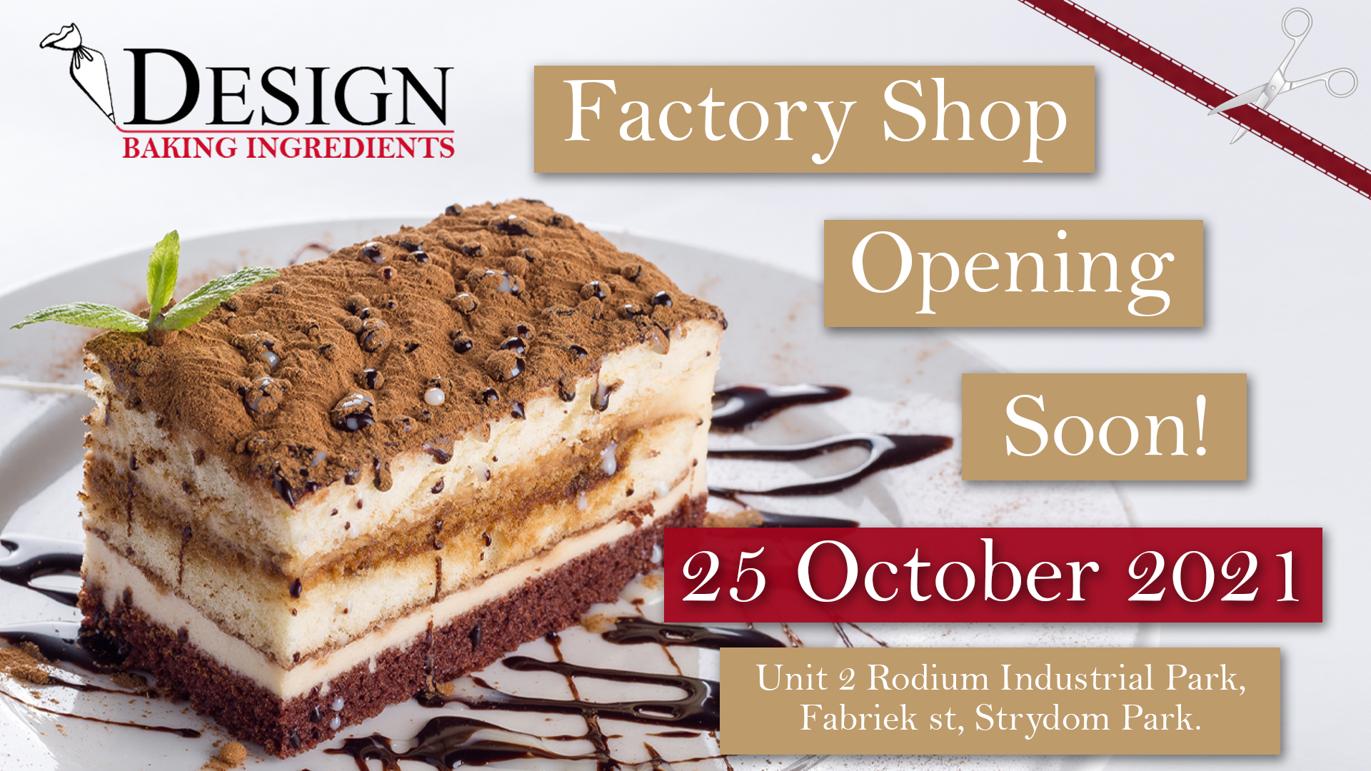 Factory Shop Opening 25 October 2021